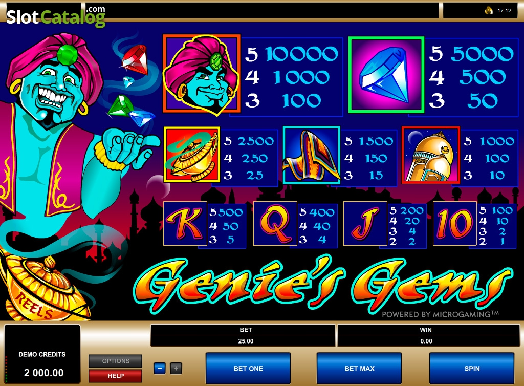Genie's Gems Slot Review, Bonus Codes & where to play from United Kingdom
