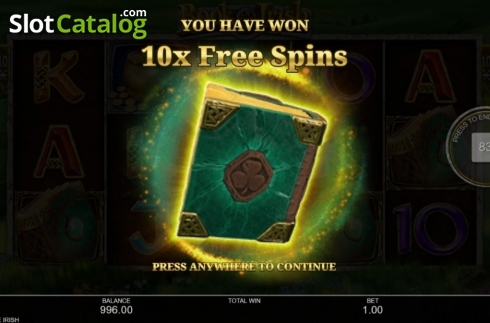 Free Spins 1. Book of the Irish (Video Slot from Inspired Gaming)