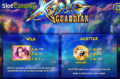 Paytable 1. Xing Guardian (Video Slots from NextGen)