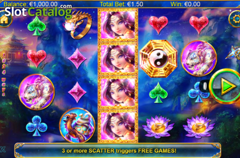 Screen 1. Xing Guardian (Video Slots from NextGen)