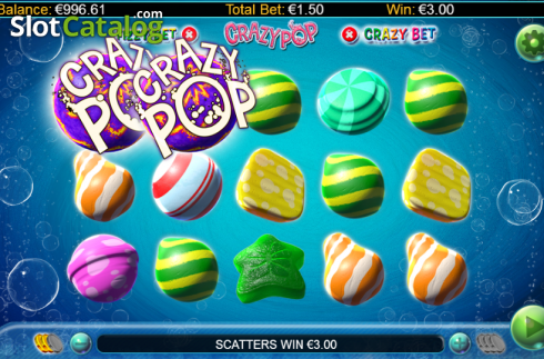 Screen 3. Crazy Pop (Video Slots from GamesLab)