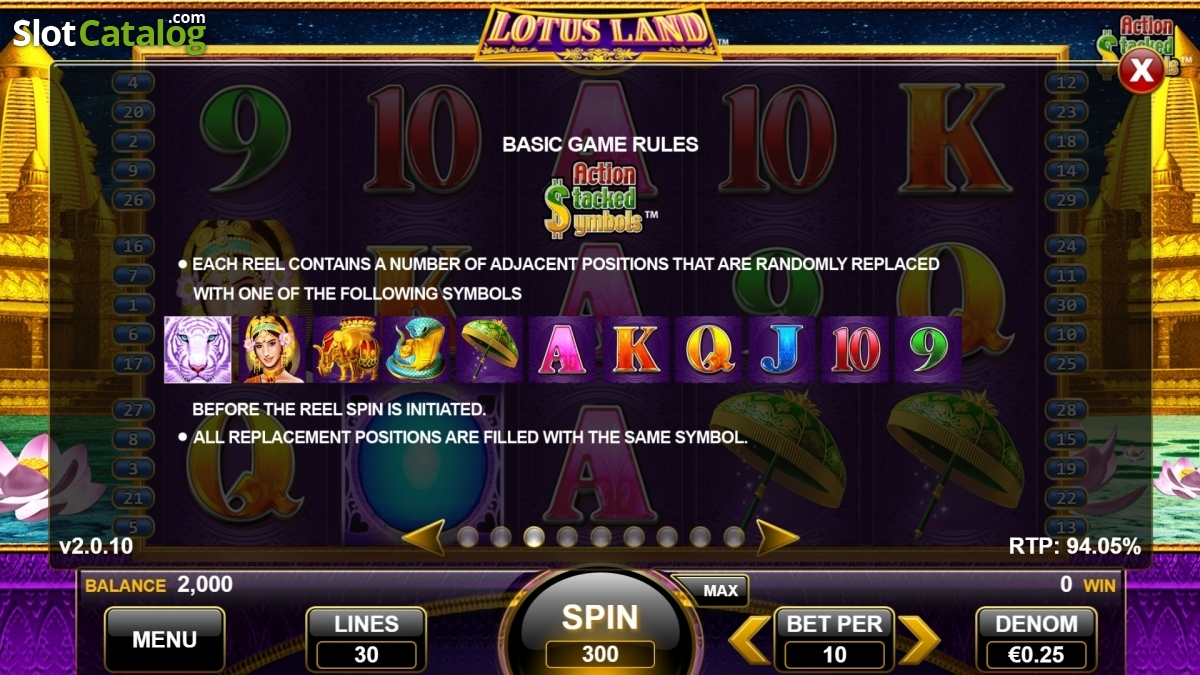 Review of lotus land video slot from nektan slotcatalog paytable 3 izmirmasajfo