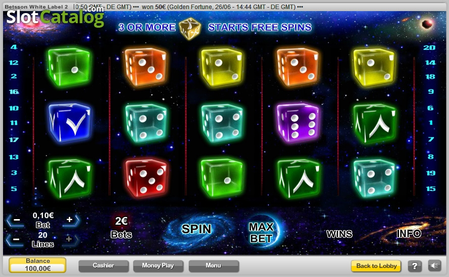 Astrodice Slots - Play this Game by Neogames Online