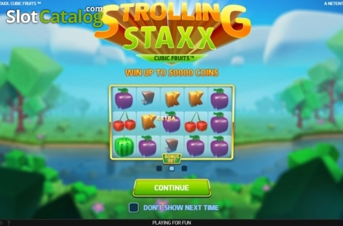 Start Screen. Strolling Staxx Cubic Fruits (Video Slot from NetEnt)
