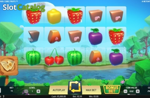 Reel Screen. Strolling Staxx Cubic Fruits (Video Slot from NetEnt)