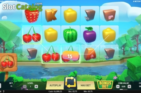 Win Screen. Strolling Staxx Cubic Fruits (Video Slot from NetEnt)