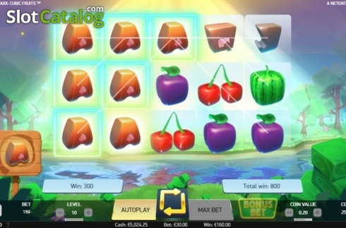 Respin. Strolling Staxx Cubic Fruits (Video Slot from NetEnt)