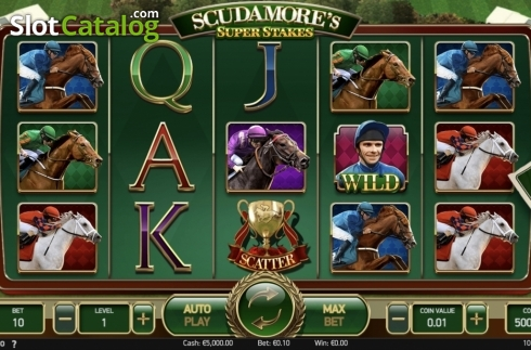 Ecran2. Scudamore's Super Stakes (Slot video din NetEnt)