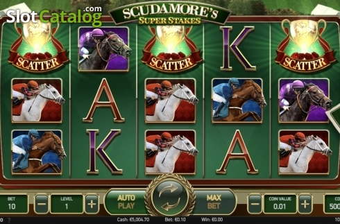 Ecran4. Scudamore's Super Stakes (Slot video din NetEnt)