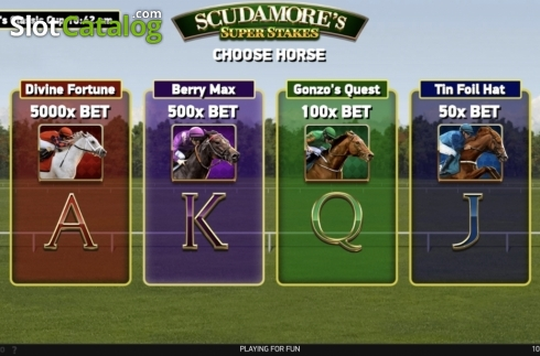 Ecran6. Scudamore's Super Stakes (Slot video din NetEnt)