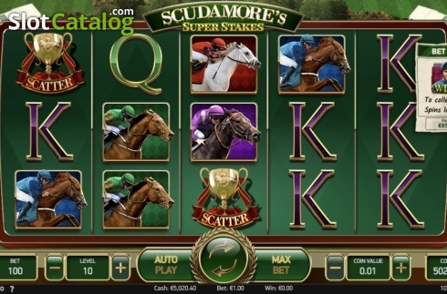 Ecran11. Scudamore's Super Stakes (Slot video din NetEnt)