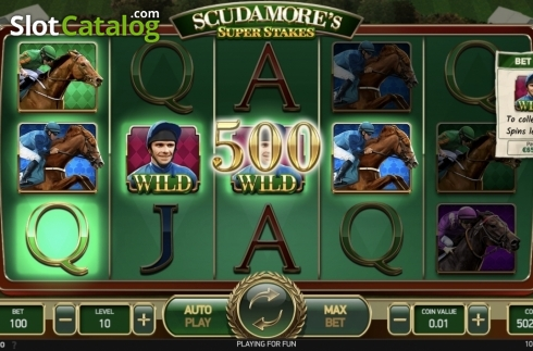 Ecran12. Scudamore's Super Stakes (Slot video din NetEnt)
