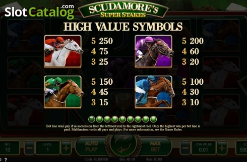 Ecran13. Scudamore's Super Stakes (Slot video din NetEnt)