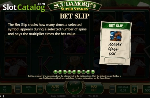 Ecran19. Scudamore's Super Stakes (Slot video din NetEnt)