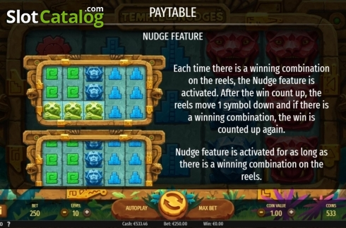 Features. Temple of Nudges (Video Slot from NetEnt)