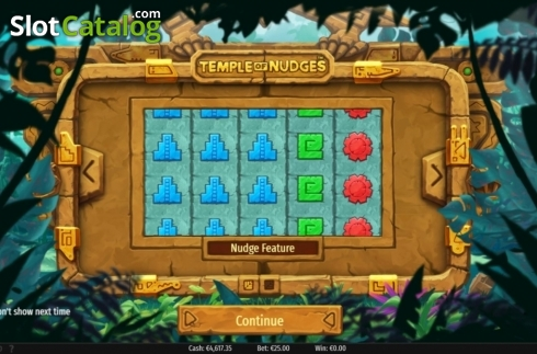 Start Screen . Temple of Nudges (Video Slot from NetEnt)