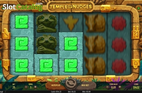 Respin Feature. Temple of Nudges (Video Slot from NetEnt)