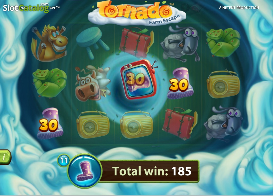 Tornado Farm Escape Slots – Play NetEnt's Farm-Themed Game
