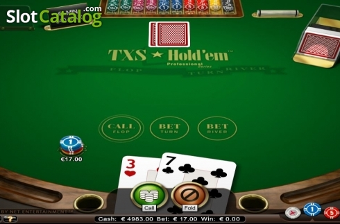 屏幕3. Texas Hold'em Professional Series (纸牌游戏 从 NetEnt)