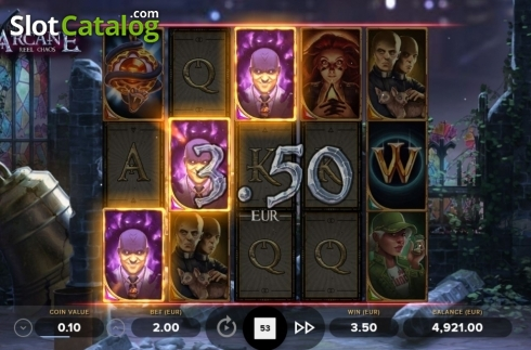 Win Screen. Arcane Reel Chaos (Video Slot from NetEnt)