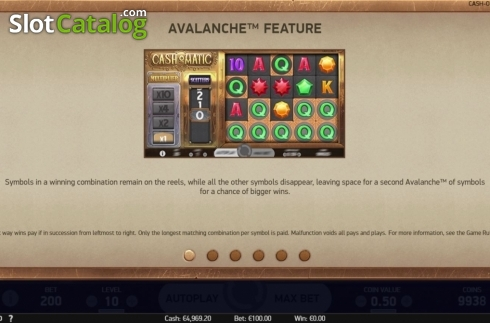 Features 1. Cash-O-Matic (Video Slots from NetEnt)