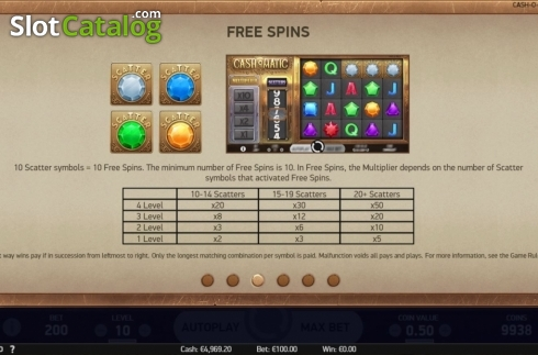 Features 3. Cash-O-Matic (Video Slots from NetEnt)
