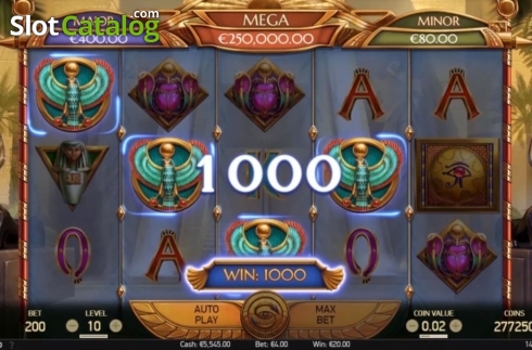 Win Screen. Mercy of the Gods (Video Slot from NetEnt)