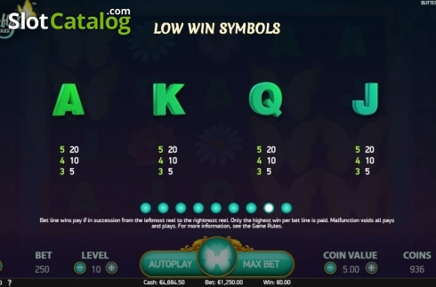 Paytable 2. Butterfly Staxx 2 (Video Slot from NetEnt)