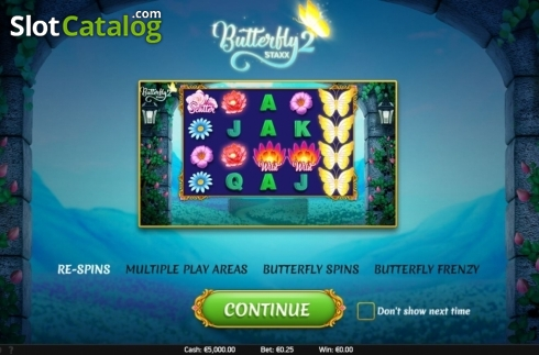 Start Screen. Butterfly Staxx 2 (Video Slot from NetEnt)