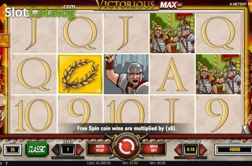 Reel Screen 1. Victorious MAX (Video Slot from NetEnt)