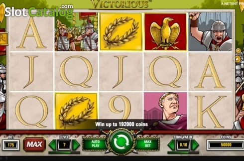 Reel Screen 2. Victorious MAX (Video Slot from NetEnt)