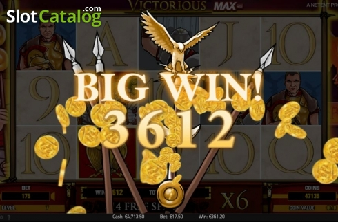 Big Win. Victorious MAX (Video Slot from NetEnt)