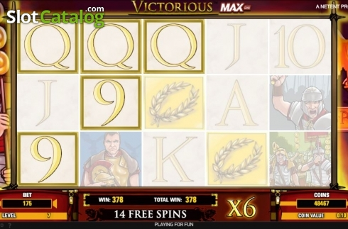Free Spins 2. Victorious MAX (Video Slot from NetEnt)