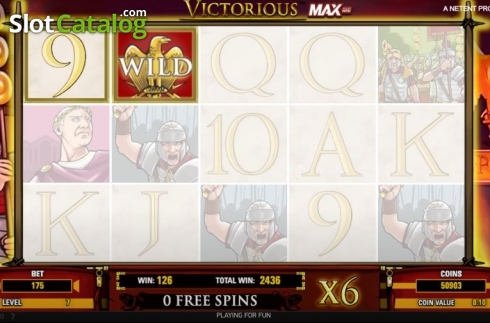 Free Spins 3. Victorious MAX (Video Slot from NetEnt)