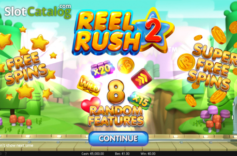 Intro screen. Reel Rush 2 (Video Slot from NetEnt)