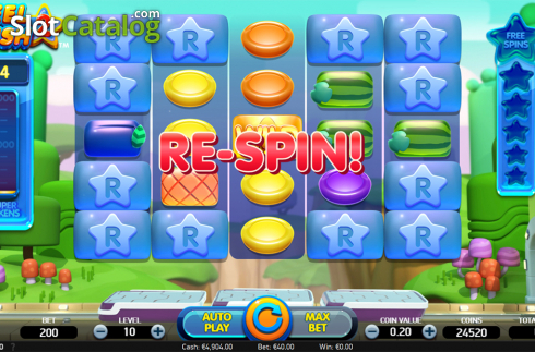Respin screen. Reel Rush 2 (Video Slot from NetEnt)