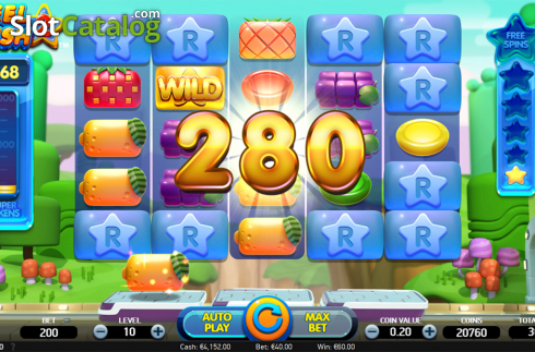 Win screen 2. Reel Rush 2 (Video Slot from NetEnt)