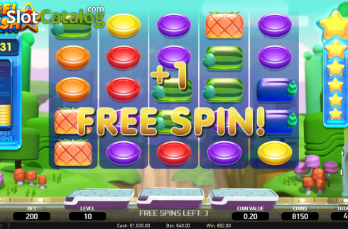 Free spins screen 2. Reel Rush 2 (Video Slot from NetEnt)