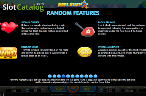 Paytable 4. Reel Rush 2 (Video Slot from NetEnt)