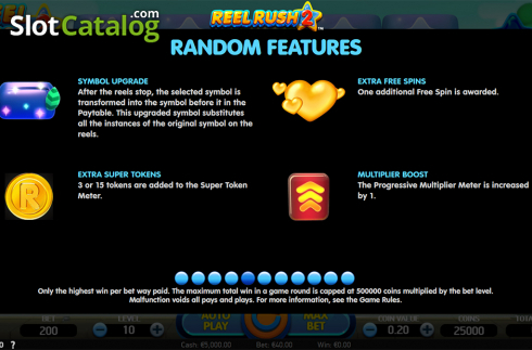 Paytable 5. Reel Rush 2 (Video Slot from NetEnt)
