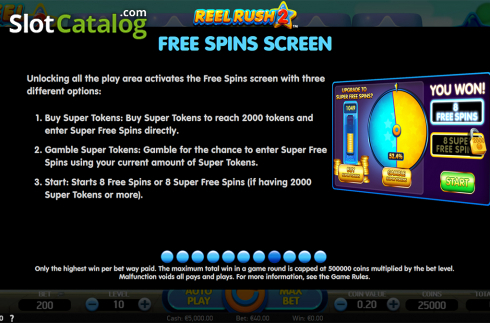 Paytable 8. Reel Rush 2 (Video Slot from NetEnt)