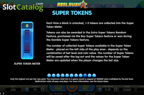 Paytable 9. Reel Rush 2 (Video Slot from NetEnt)