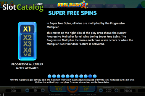 Paytable 10. Reel Rush 2 (Video Slot from NetEnt)
