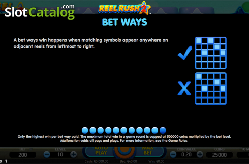 Paytable 11. Reel Rush 2 (Video Slot from NetEnt)