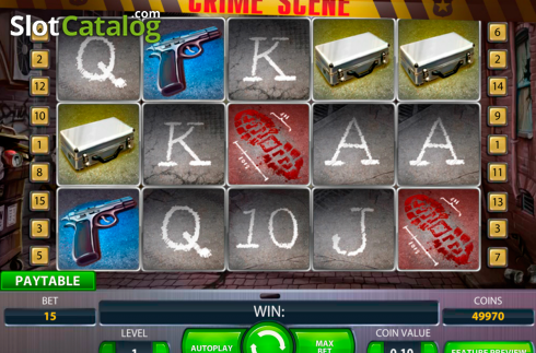 Ecran5. Crime Scene (Slot video din NetEnt)