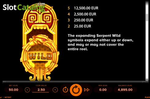 Ecran12. Rise of Maya (Slot video din NetEnt)