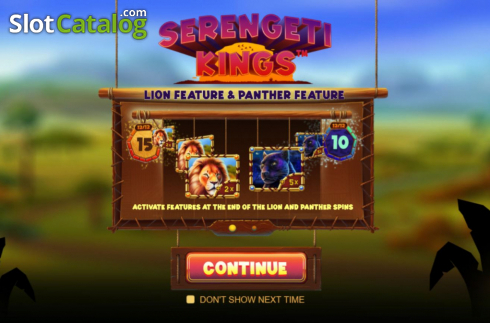 Tela2. Serengeti Kings (Slot de video a partir de NetEnt)