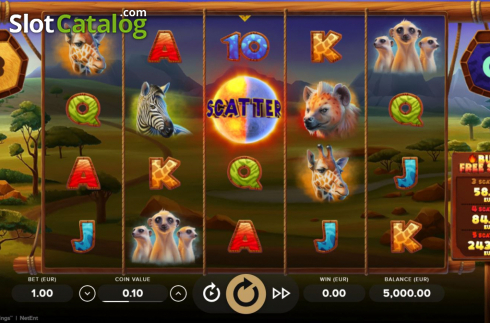 Tela3. Serengeti Kings (Slot de video a partir de NetEnt)