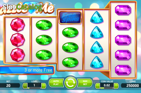 Scherm3. Dazzle Me (Video Slot van NetEnt)