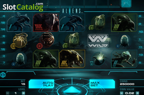 Tela2. Aliens (Slot de video a partir de NetEnt)